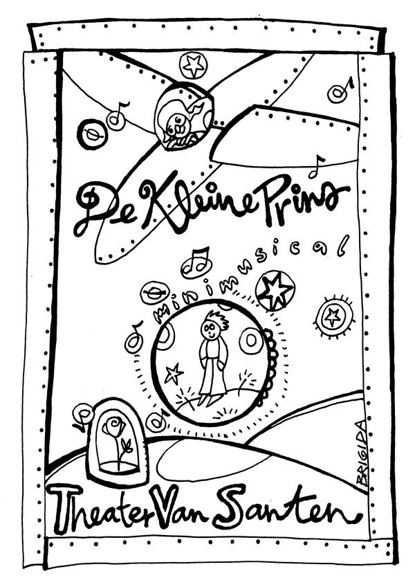 Kleurplaat 60 Jaar Theater Van Santen De Kleine Prins
